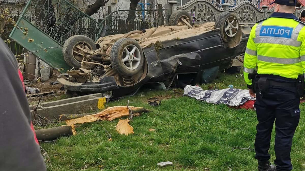Grav accident de circulatie soldat cu doua victime in localitatea Cristești din județul Iași