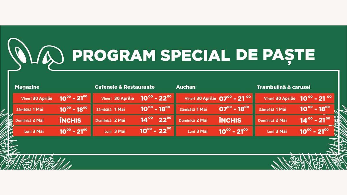Pregătește-te pentru sărbători în familie la Palas și Iulius Mall Iași! Află programul special de Paște al magazinelor și restaurantelor
