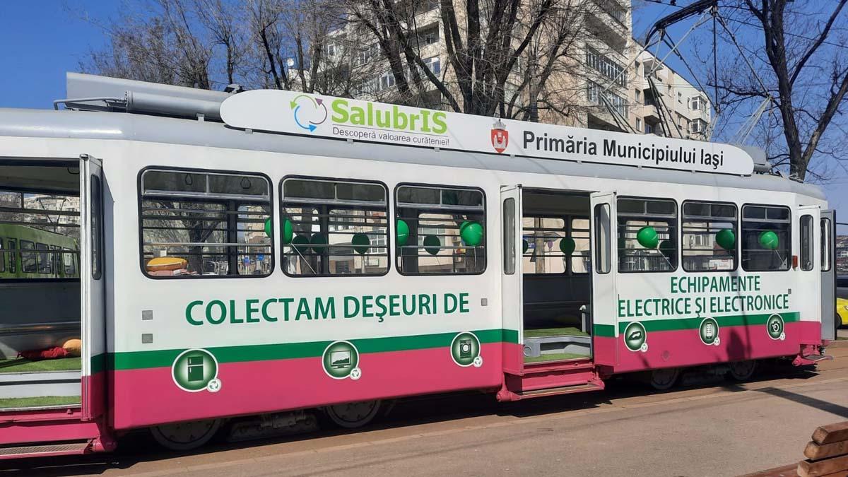 Deşeurile electrice şi electrocasnice  din municipiul Iasi vor fi strânse cu 'Tramvaiul reciclării'