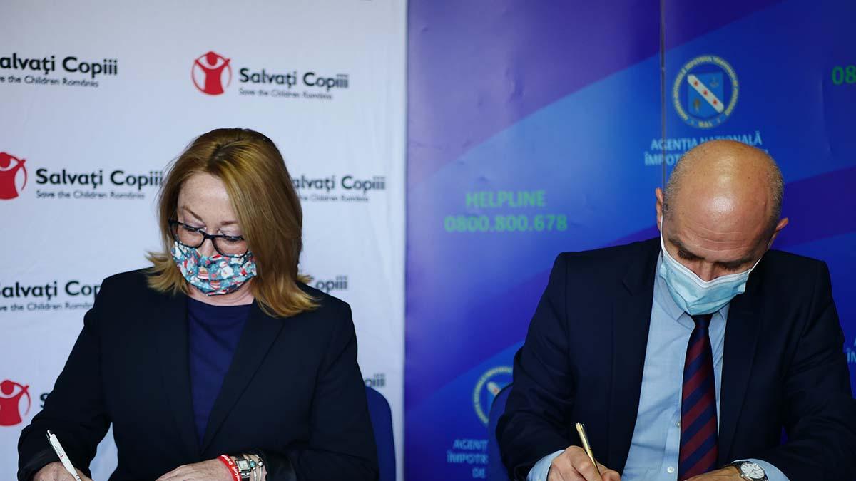Agenţia Naţională Împotriva Traficului de Persoane a semnat un protocol de colaborare cu Asociația Salvați Copiii România