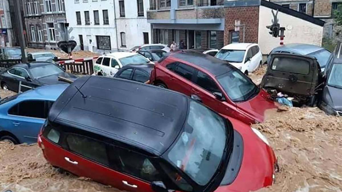 Noi inundaţii in Belgia după o serie de furtuni violente