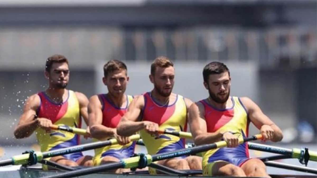 A doua medalie la canotaj pentru România: argint în proba de patru rame masculin