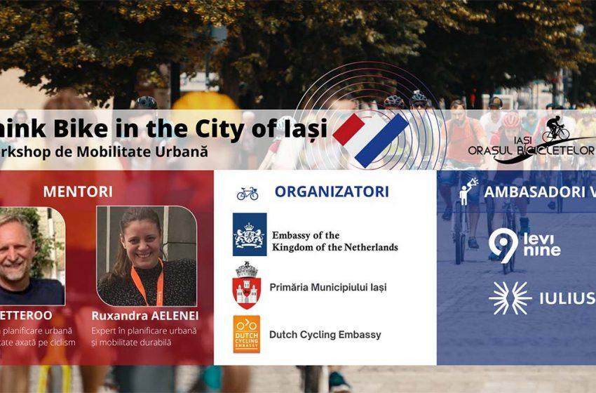 Workshop de mobilitate urbană la Iași cu participarea unor experți olandezi